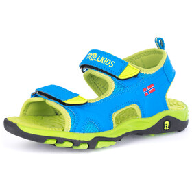 TROLLKIDS Orrestrand Sandalen Kinderen, medium blue/lime